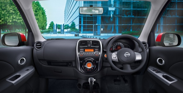 spesifikasi nissan march interior dashboard