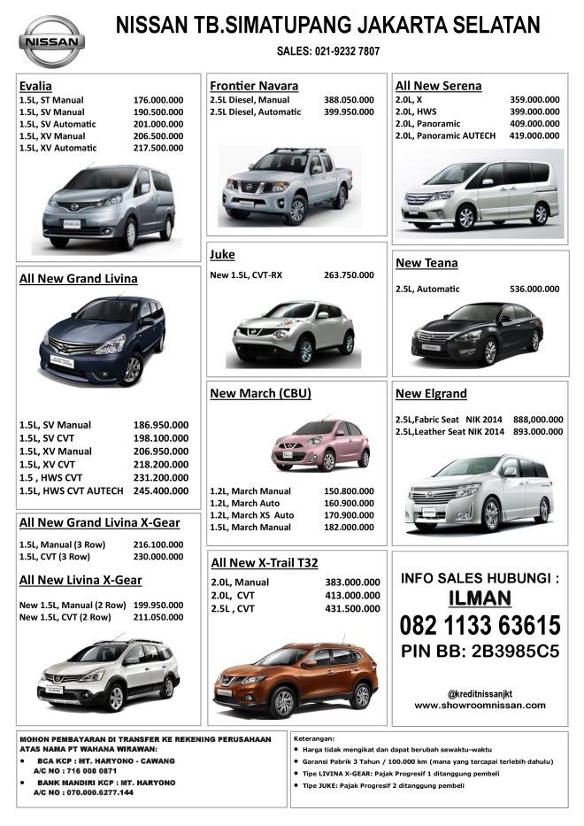 Daftar Harga Mobil Nissan Terbaru 2014 Harga Promo Dan Kredit Mobil Nissan Datsun Jakarta